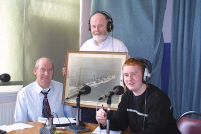 Presenting a programme on the sinking of the Leinster.